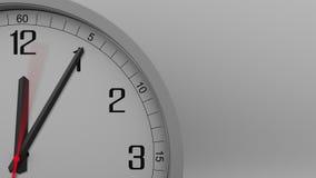 Skott för Tid schackningsperiod av den gråa klockan som mäter av 10 minuter mellanrum längd i fot räknat 4k arkivfilmer