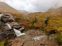Skottland är härlig även på en våt dag arkivfoto