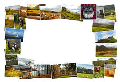 Skottland collagebilder Arkivfoton