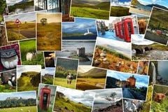 Skottland collagebilder Arkivfoto