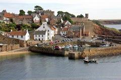 Skottland crail, fiskeläge royaltyfria bilder