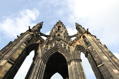 Skottland edinburgh, scott monument Arkivbilder