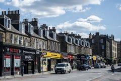 Skottland Förenade kungariket Edinburg 14 05 2016 - Dagligt liv i gatalagret Fotografering för Bildbyråer
