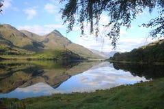 Skottland fjord Leven Glencoe Nature arkivbild