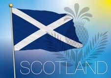 Skottland flagga royaltyfri illustrationer