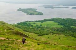 Skottland fotvandrare Fotografering för Bildbyråer