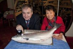 Skottland Kina Salmon Deal Royaltyfria Foton