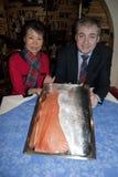 Skottland Kina Salmon Deal Arkivbilder