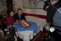 Skottland Kina Salmon Deal Royaltyfri Bild