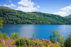 Skottland Loch Lomond Arkivfoto