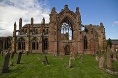 Skottland - Melroseabbotskloster Arkivfoton