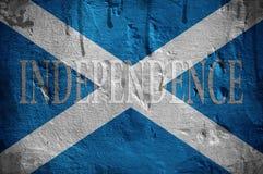 Skottland självständighetflagga. Royaltyfri Fotografi