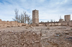 Skoura village Kasba at Morocco Royalty Free Stock Photos