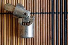 Skowa dla Torx nasadki dla spanner na drewnianym tle obraz royalty free