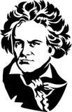 skåpbil för Beethoveneps ludwig Arkivfoton