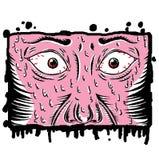 skräck vektor illustrationer