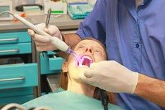 Skräck av tandläkaren Royaltyfri Bild