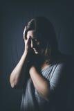 Skräck ensamhet, fördjupning, missbruk Fotografering för Bildbyråer