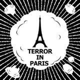 Skräck i Paris Arkivbild