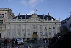 SKRÄCK SOM ANFALLAS I PARIS_COPENHAGEN DANMARK royaltyfria bilder