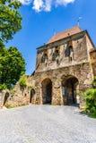 Skräddarna står högt i Sighisoara, det Mures länet, Transylvania, Rumänien arkivbild