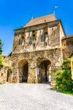 Skräddarna står högt i Sighisoara, det Mures länet, Transylvania, Rumänien royaltyfria foton