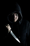 skrämmande knivungdom Royaltyfri Bild