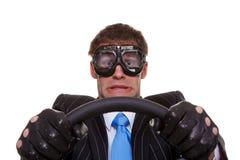 skrämmd chaufför Royaltyfri Foto