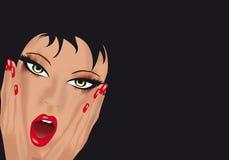 skrämmd flicka vektor illustrationer