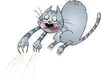 skrämmd katt royaltyfri illustrationer
