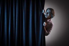 skrämmd man fotografering för bildbyråer