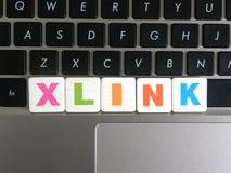 Skrót XLink na klawiaturowym tle Fotografia Stock