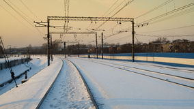 skręt na linii kolejowej 2 Zdjęcia Stock