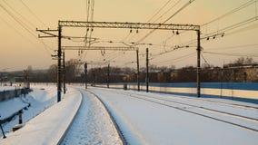 skręt na linii kolejowej Zdjęcia Stock