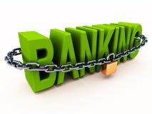 Säkra bankrörelsebegreppet Arkivfoton