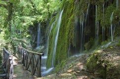 Skra Wasserfälle in Griechenland Lizenzfreie Stockfotos