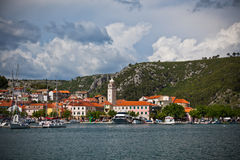 Skradin малый исторический город в Хорватии Стоковая Фотография RF