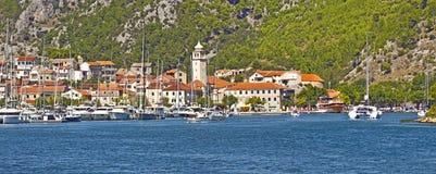Skradin, Croatia - Panoramic view of the harbor Stock Photography