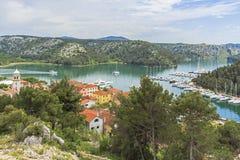 Skradin, Dalmácia, Croácia. Imagens de Stock Royalty Free