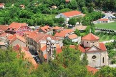 Skradin - en liten stad i Kroatien Arkivbilder