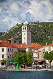 Skradin est une petite ville historique en Croatie photo stock