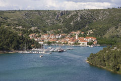 Skradin panorama Royalty Free Stock Photos