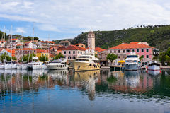 Skradin is a small historic town in Croatia Royalty Free Stock Image