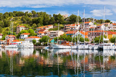 Skradin is a small historic town in Croatia Royalty Free Stock Photo