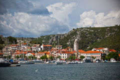 Skradin is a small historic town in Croatia Royalty Free Stock Photography