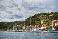 Skradin is a small historic town in Croatia Stock Photo
