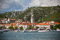 Skradin is a small historic town in Croatia Royalty Free Stock Photos
