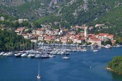 Skradin stad i Dalmatia, Kroatien Arkivbild