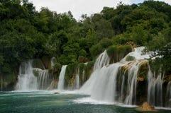 Skradinski Buk瀑布在Krka国家公园,克罗地亚 免版税图库摄影