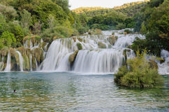 Skradinski Buk - водопад в национальном парке i Krka Стоковые Фото
